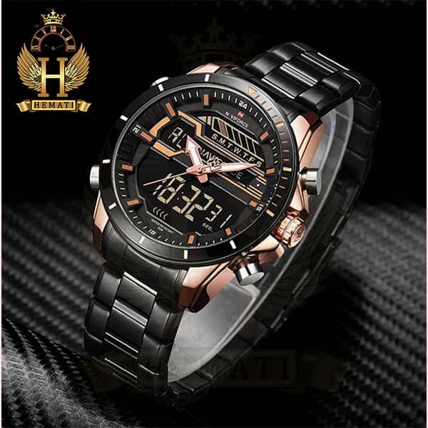 خرید اینترنتی ساعت مردانه نیوی فورس مدل naviforce nf9133m مشکی رزگلد