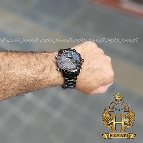 خرید اینترنتی ساعت مردانه نیوی فورس مدل naviforce nf9024m مشکی ایندکس نارنجی