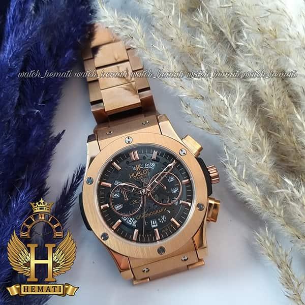 خرید ، قیمت ، مشخصات ساعت مردانه هابلوت بیگ بنگ Hublot Big Bang BB2098 صفحه اسکلتون (بند استیل رزگلد)