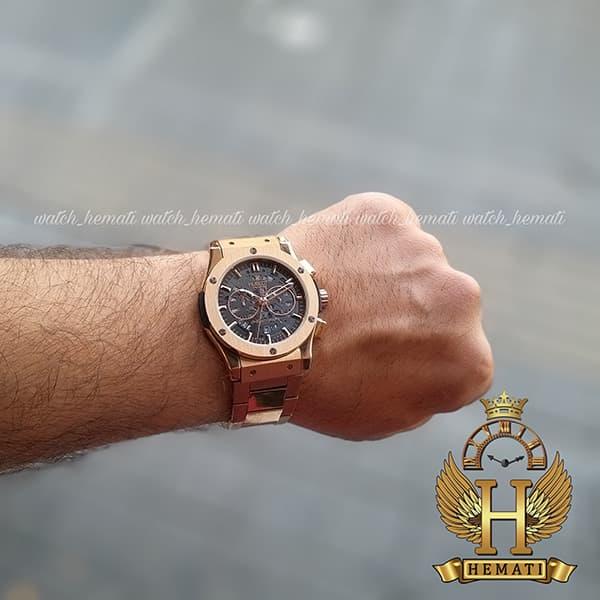 خرید ارزان ساعت مردانه هابلوت بیگ بنگ Hublot Big Bang BB2098 صفحه اسکلتون (بند استیل رزگلد)