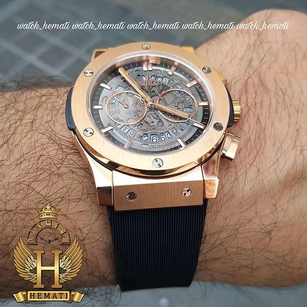 خرید ، قیمت ، مشخصات ساعت مردانه هابلوت مدل HU3AM201 سه موتوره صفحه اسکلتون