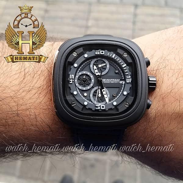 خرید اینترنتی ساعت سون فرایدی مردانه Sevenfriday مدل SF-M2/01-8796 فول دیت مشکی
