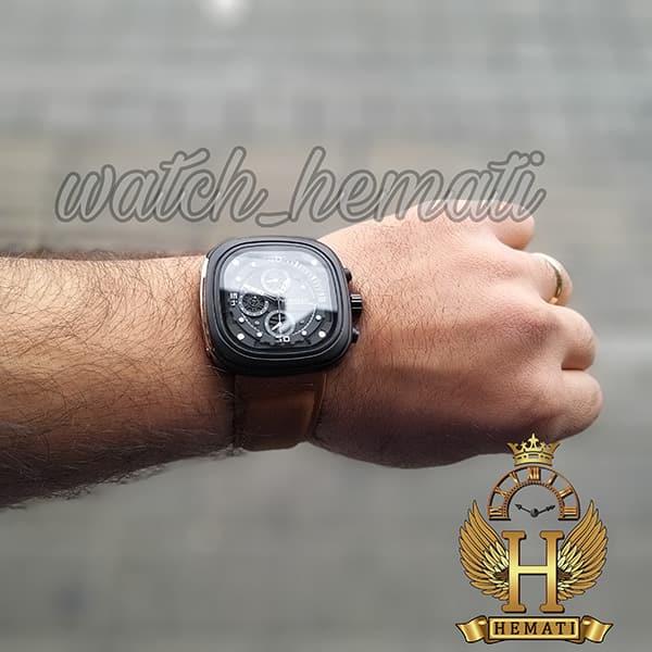 خرید آنلاین ساعت سون فرایدی مردانه Sevenfriday مدل SF-M2/01-8796 فول دیت بند قهوه ای
