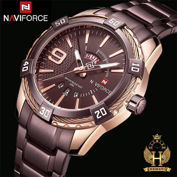 مشخصات ساعت مردانه نیوی فورس مدل naviforce nf9117m کافی
