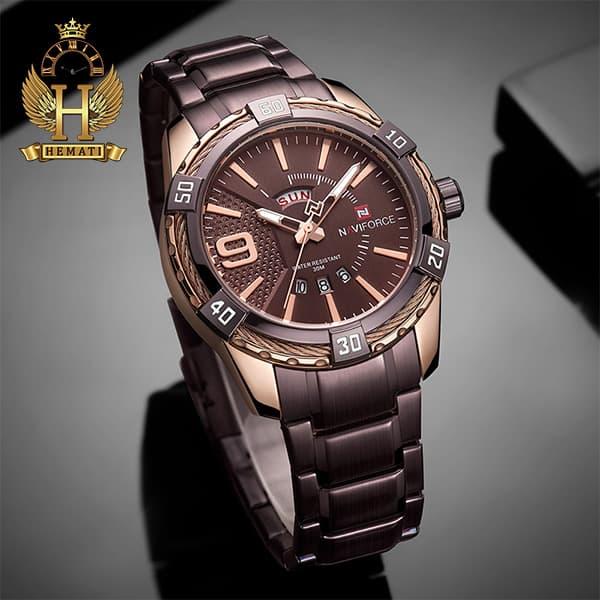 خرید انلاین ساعت مردانه نیوی فورس مدل naviforce nf9117m کافی