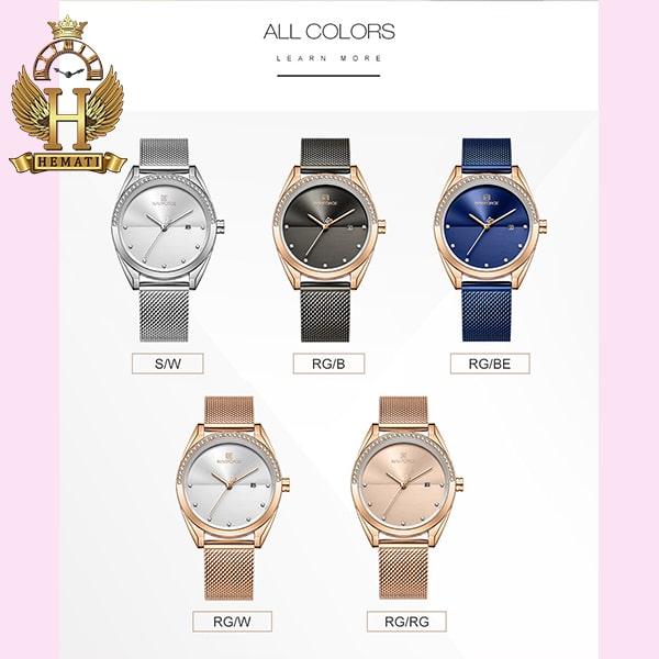 پر فروشترین ساعت زنانه نوی فورس مدل NF5015L در رنگبندی رزگلد ، نقره ای ، مشکی ، سرمه ای