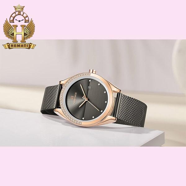 مشخصات ساعت زنانه نوی فورس مدل NF5015L در رنگبندی رزگلد ، نقره ای ، مشکی ، سرمه ای