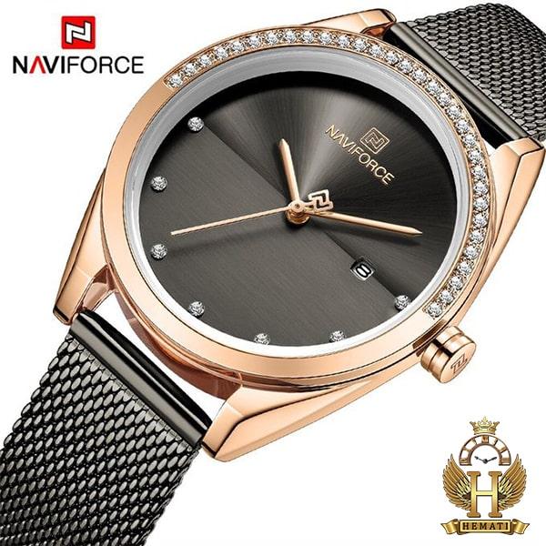 خرید اینترنتی ساعت زنانه نوی فورس مدل NF5015L در رنگبندی رزگلد ، نقره ای ، مشکی ، سرمه ای