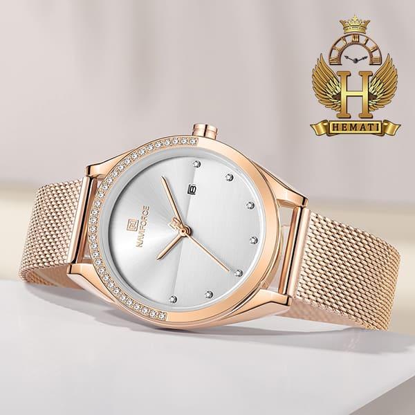 قیمت ساعت زنانه نوی فورس مدل NF5015L در رنگبندی رزگلد ، نقره ای ، مشکی ، سرمه ای