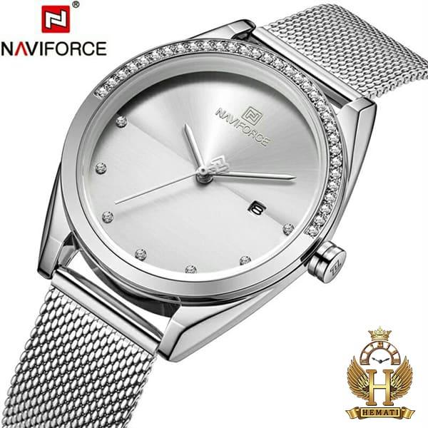 عکس ساعت زنانه نوی فورس مدل NF5015L در رنگبندی رزگلد ، نقره ای ، مشکی ، سرمه ای