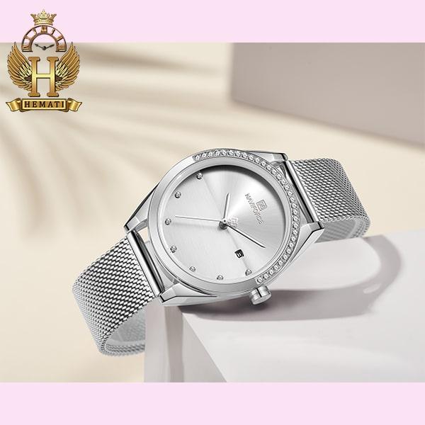 جرید ترین ساعت زنانه نوی فورس مدل NF5015L در رنگبندی رزگلد ، نقره ای ، مشکی ، سرمه ای