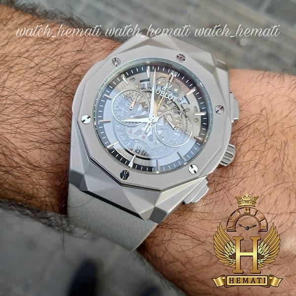مشخصات ساعت مردانه هابلوت بیگ بنگ HUTM301 سه موتوره قاب تراش طوسی