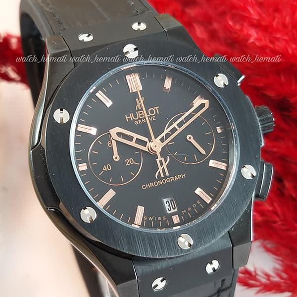 مشخصات ساعت زنانه هابلوت بیگ بنگ HU3L100 مشکی سه موتوره شیک