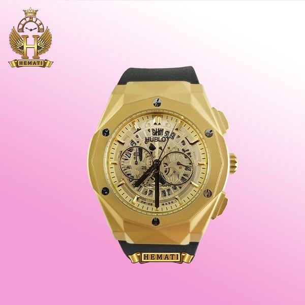 ساعت مردانه هابلوت بیگ بنگ مدل BB7690 طلایی دورقاب تراش