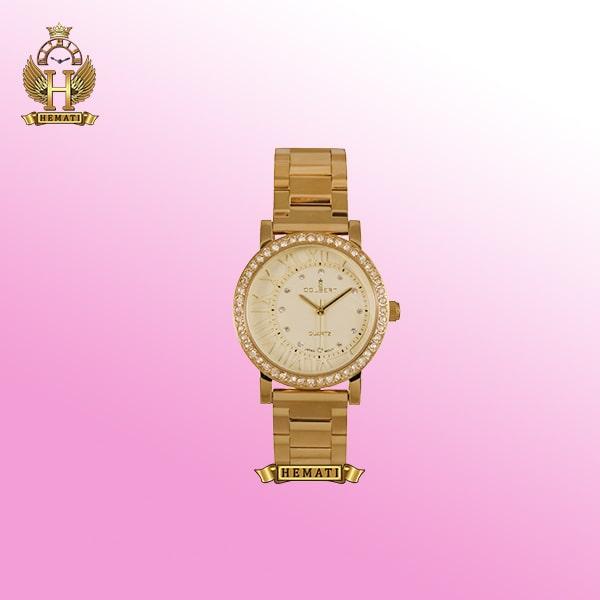 ساعت مچی عقربه ای زنانه کلبرت مدل 017L Colbert طلایی
