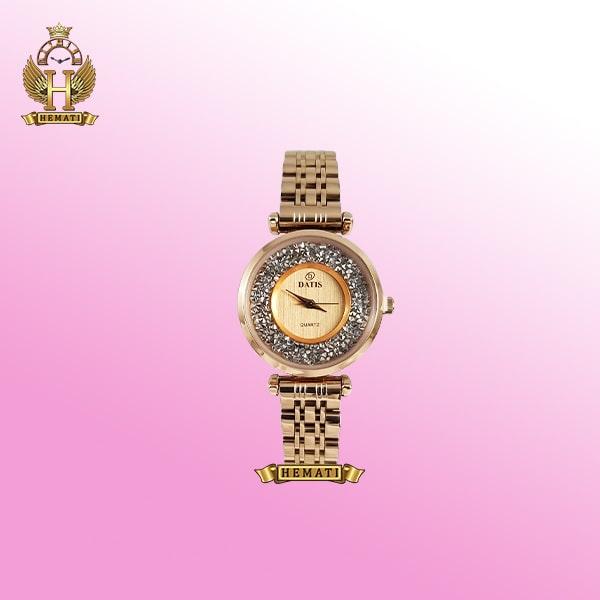 ساعت زنانه داتیس مدل D8374DL رزگلد صفحه شنی اورجینال