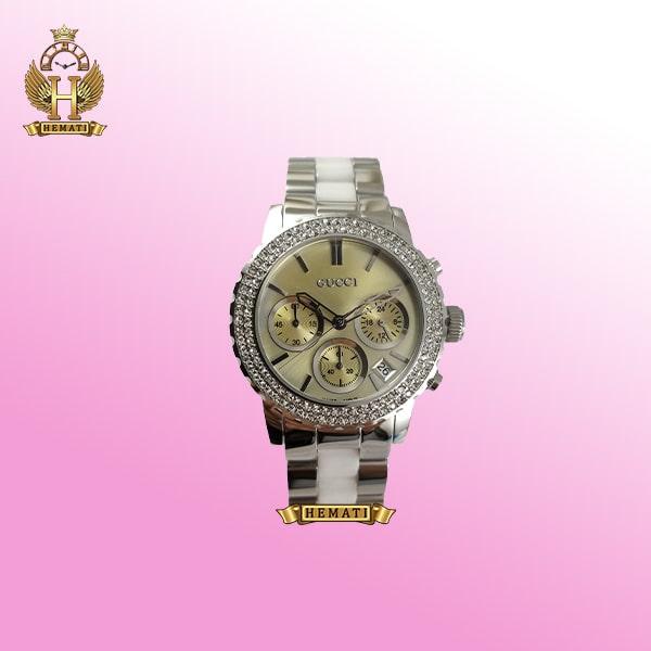 خرید ساعت زنانه گوچی GUCCI 14145L نقره ای سفید