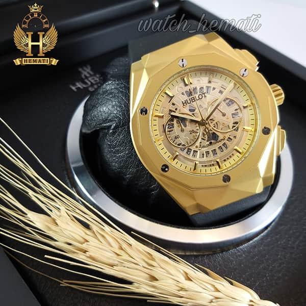 خرید ساعت مردانه هابلوت بیگ بنگ مدل BB7690 طلایی دورقاب تراش