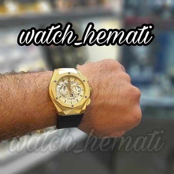 قیمت ساعت مردانه هابلوت بیگ بنگ مدل HUTM300 طلایی دورقاب تراش