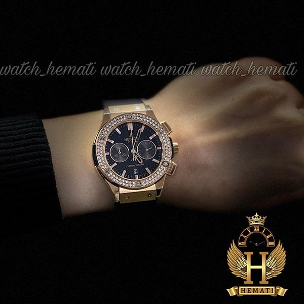 مشخصات ساعت زنانه هابلوت بیگ بنگ Hublot Big Bang HU3LJ300 سه موتوره (دورقاب نگین دار)