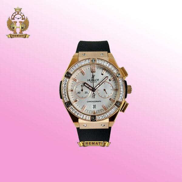 خرید ساعت زنانه هابلوت دورقاب نگین دار بیگ بنگ مدل Big Bang BB9827 سه موتوره