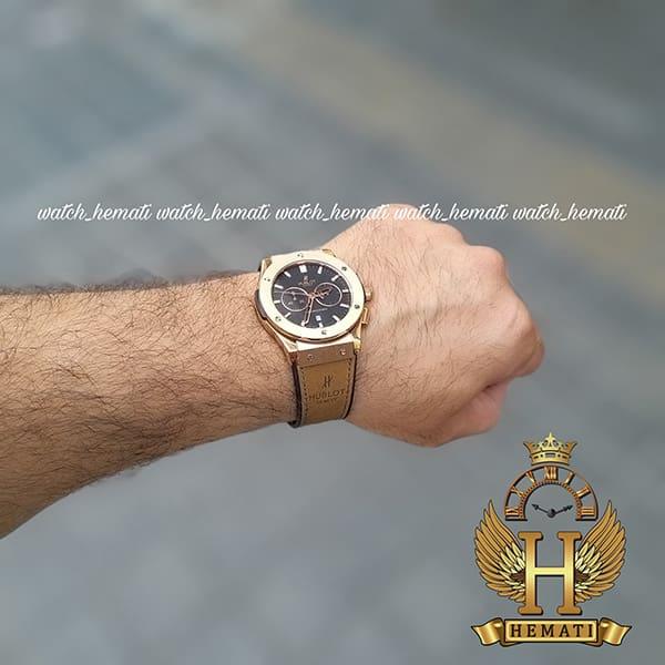 مشخصات ساعت هابلوت بیگ بنگ مردانه Hublot Big Bang HU3M105 رزگلد سه موتوره