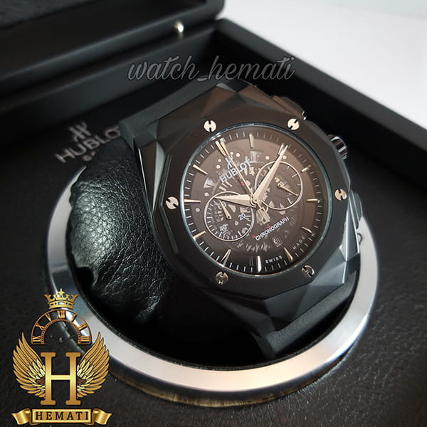 خرید ساعت مردانه هابلوت بیگ بنگ Big Bang BB3046 قاب تراش رنگ مشکی