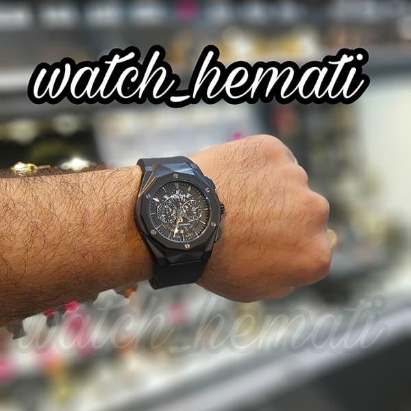 قیمت ساعت مردانه هابلوت بیگ بنگ Big Bang BB3046 قاب تراش رنگ مشکی
