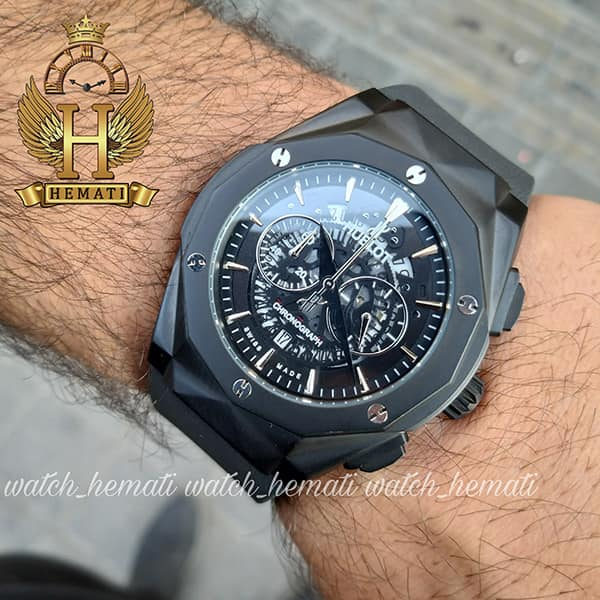 مشخصات ساعت مردانه هابلوت بیگ بنگ Big Bang BB3046 قاب تراش رنگ مشکی