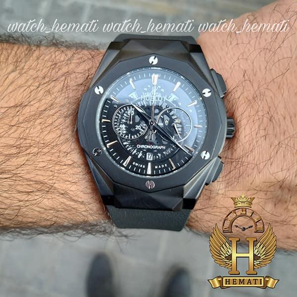 خرید اینترنتی ساعت مردانه هابلوت بیگ بنگ Big Bang BB3046 قاب تراش رنگ مشکی