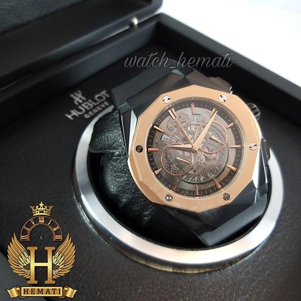 ساعت مردانه هابلوت Big Bang BB3288 قاب تراش سه موتوره ، رنگ مشکی رزگلد