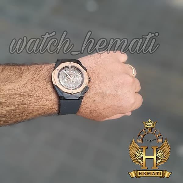خرید اینترنتی ساعت مردانه هابلوت Big Bang BB3288 قاب تراش سه موتوره ، رنگ مشکی رزگلد