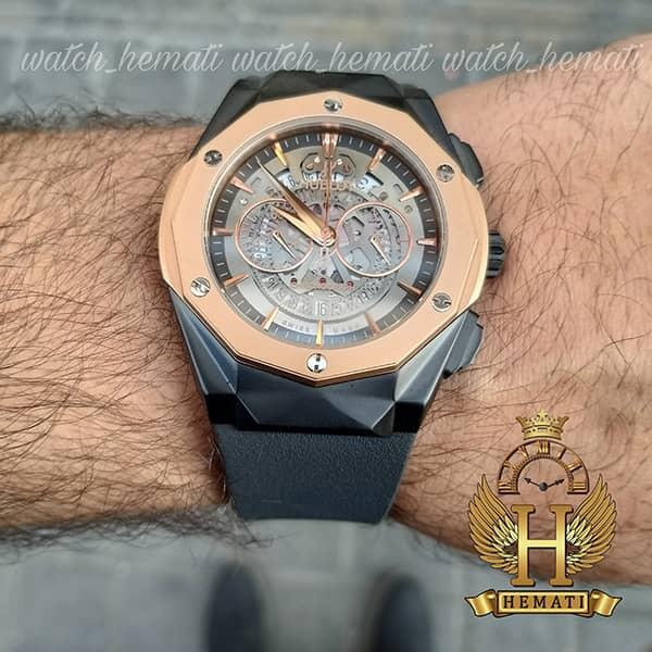 خرید انلاین ساعت مردانه هابلوت Big Bang BB3288 قاب تراش سه موتوره ، رنگ مشکی رزگلد