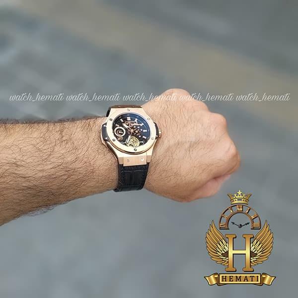 قیمت ساعت مردانه هابلوت مدل دوقاب HUAM102 رزگلد