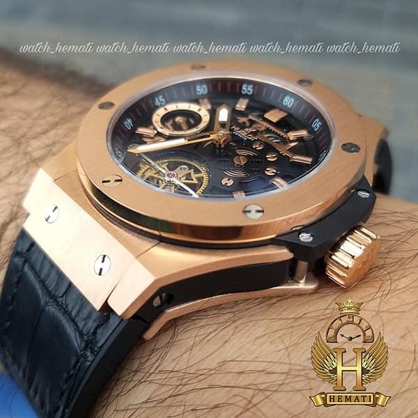 خرید اینترنتی ساعت مردانه هابلوت مدل دوقاب HUAM102 رزگلد