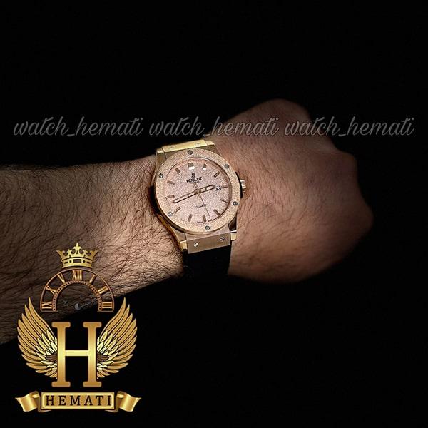 مشخصات ساعت هابلوت اسپرت بیگ بنگ Hublot Big Bang HU1M102 رزگلد قاب شنی
