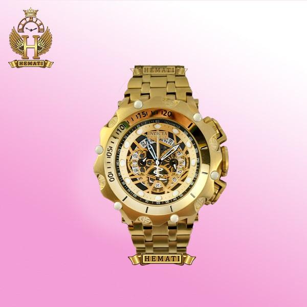 ساعت مردانه اینویکتا ونوم رزرو مدل Invicta venom reserve تمام طلایی