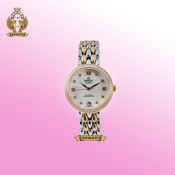 ساعت زنانه امگا دویل مدل Omega de ville 8632G نقره ای-رزگلد صفحه سفید