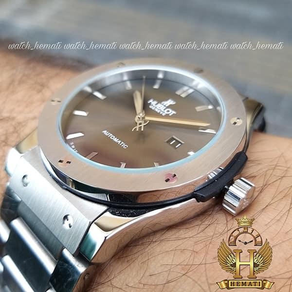 قیمت ساعت هابلوت مردانه HUAM100 موتور اتوماتیک تمام استیل به رنگ طوسی جذاب
