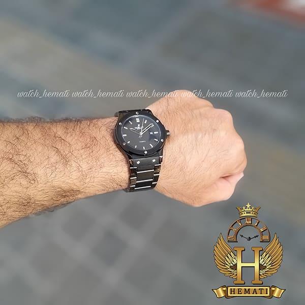 خرید ، قیمت ، مشخصات ساعت هابلوت مدل HU1M104 بند فلزی مشکی تک موتوره