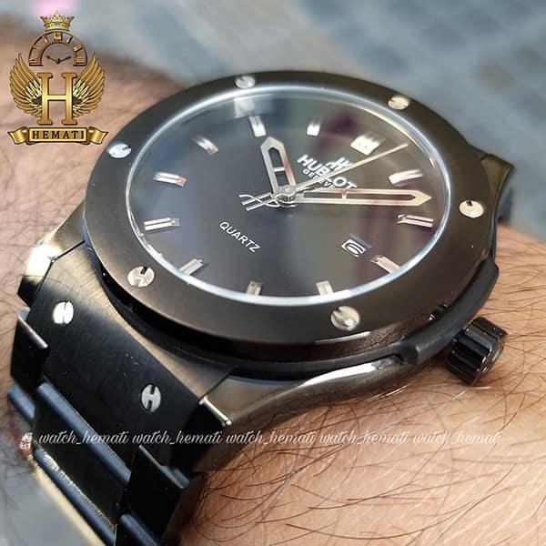 خرید اینترنتی ساعت هابلوت مدل HU1M104 بند فلزی مشکی تک موتوره