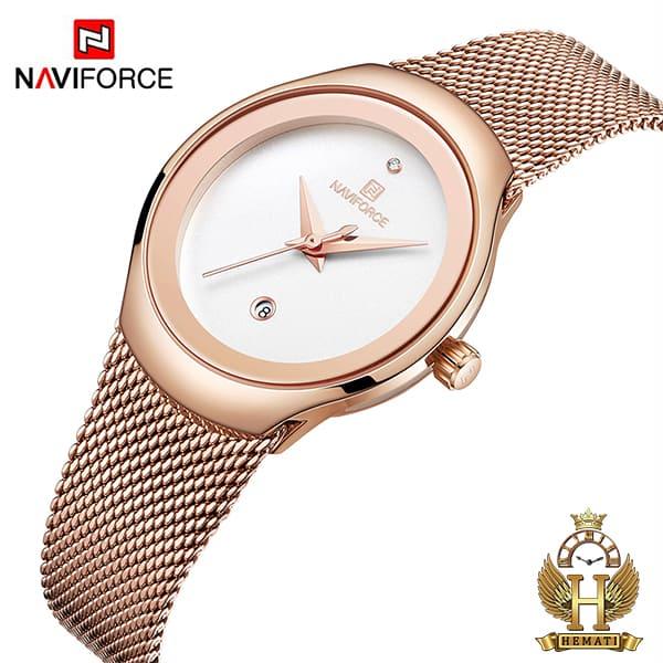 خرید ساعت زنانه نیوی فورس مدل nf5004l نقره ای