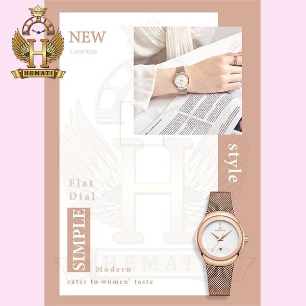 قیمت ساعت زنانه نیوی فورس مدل nf5004l نقره ای