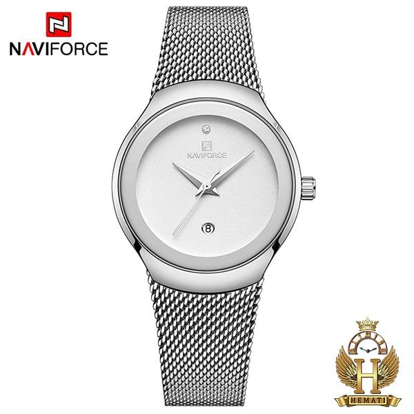 ساعت زنانه نیوی فورس مدل nf5004l نقره ای