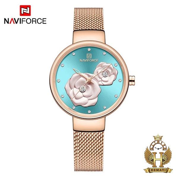 قیمت ساعت زنانه نیوی فورس مدل nf5013l قاب و بند و صفحه فیروزه ای