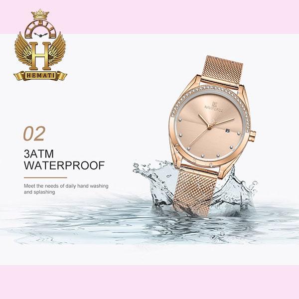 مشخصات ساعت زنانه نیوی فورس مدل naviforce nf5015l رزگلد