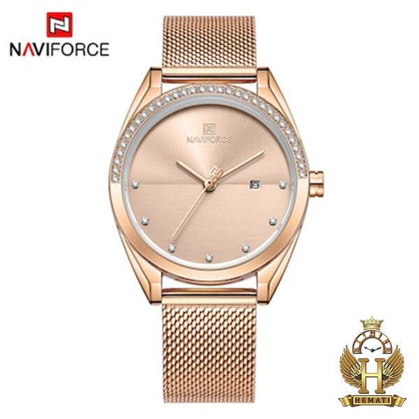 خرید اینترنتی ساعت زنانه نیوی فورس مدل naviforce nf5015l رزگلد