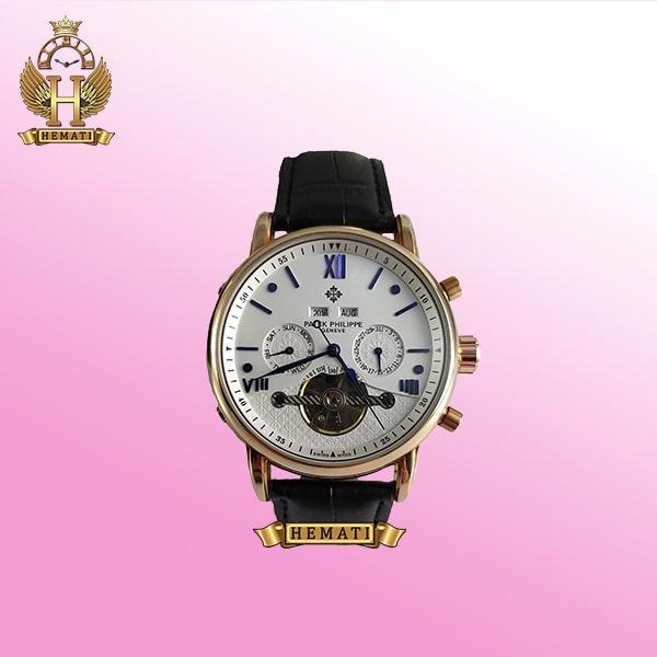 ساعت پتک فیلیپ مردانه مدل PW980 اتوماتیک صفحه سفید