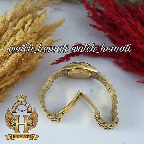 خرید اینترنتی ساعت زنانه رولکس دیت جاست Rolex Datejust RODJL103 طلایی صفحه سرمه ای