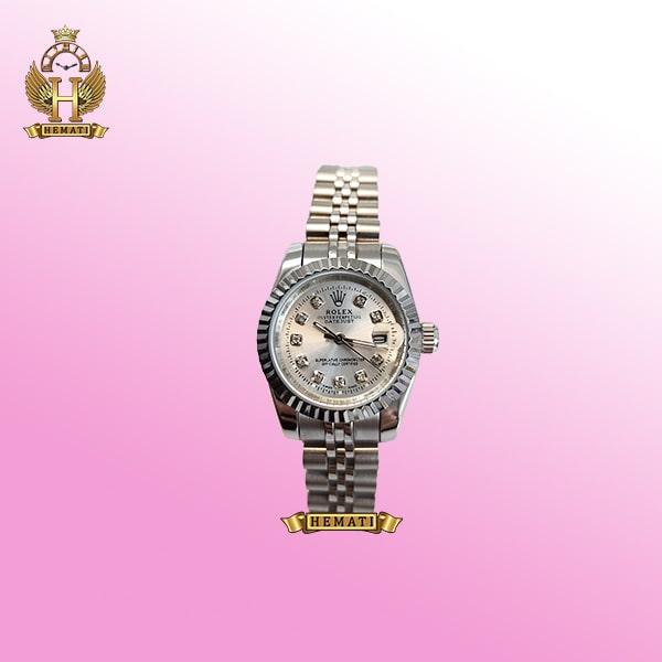ساعت زنانه رولکس دیت جاست Rolex Datejust RODJL26100 نقره ای ، قطر 26 میلیمتر